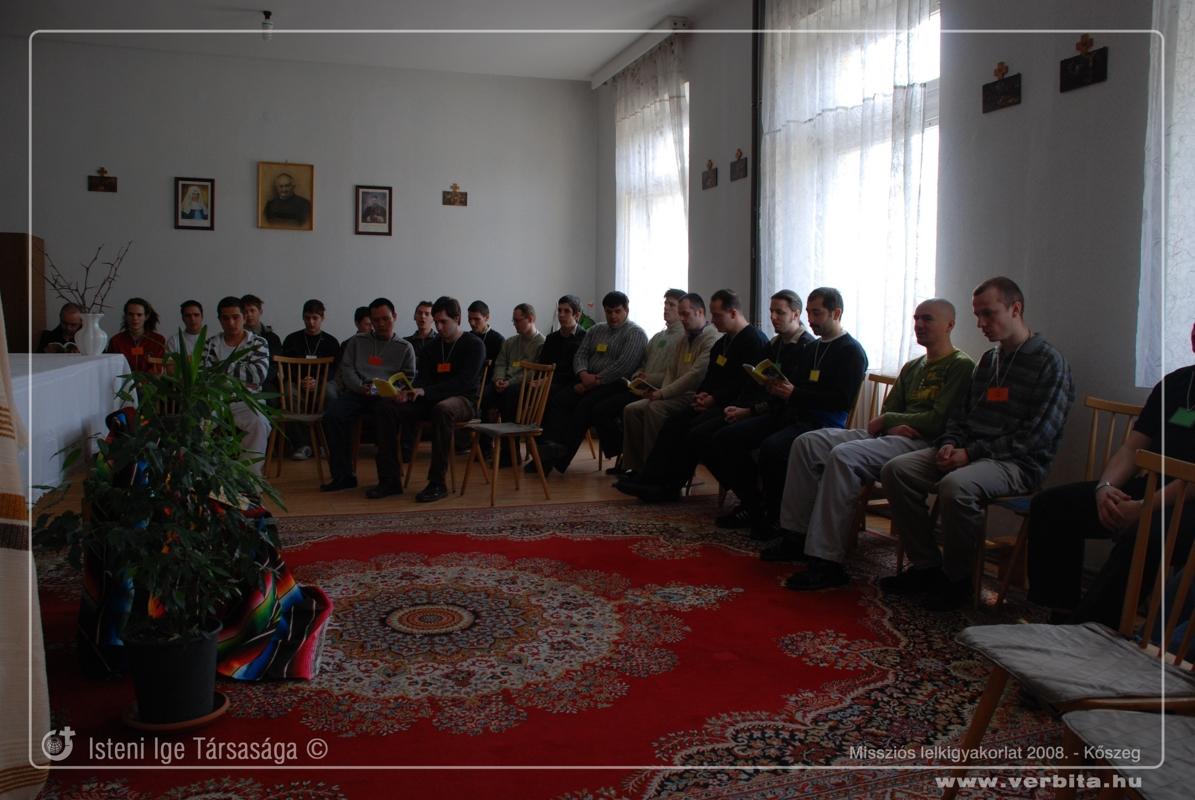 Misszi�s lelkigyakorlat 2008. febru�r - K�szeg