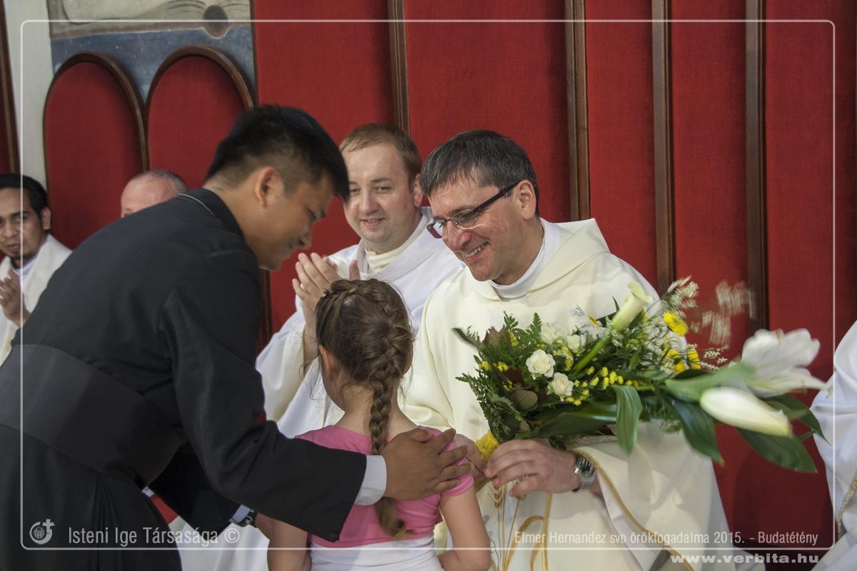 Elmer Hernandez SVD örökfogadalma 2015. május - Budatétény