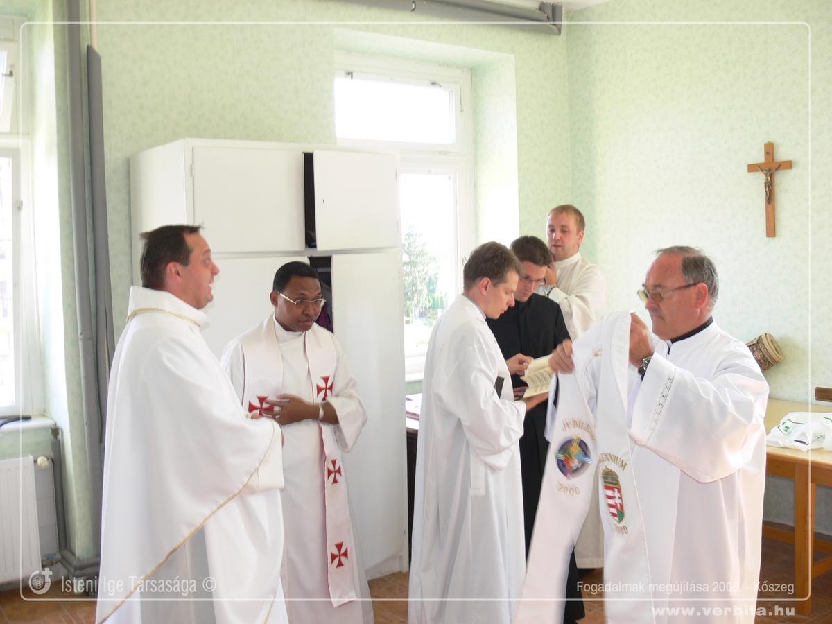 Fogadalmak megújítása 2008. szeptember - Kõszeg