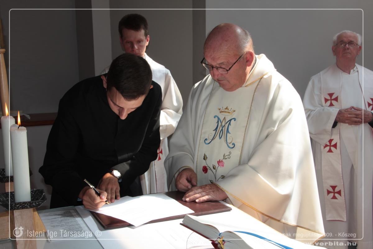 Fogadalmak megújítása 2009. szeptember - Kõszeg