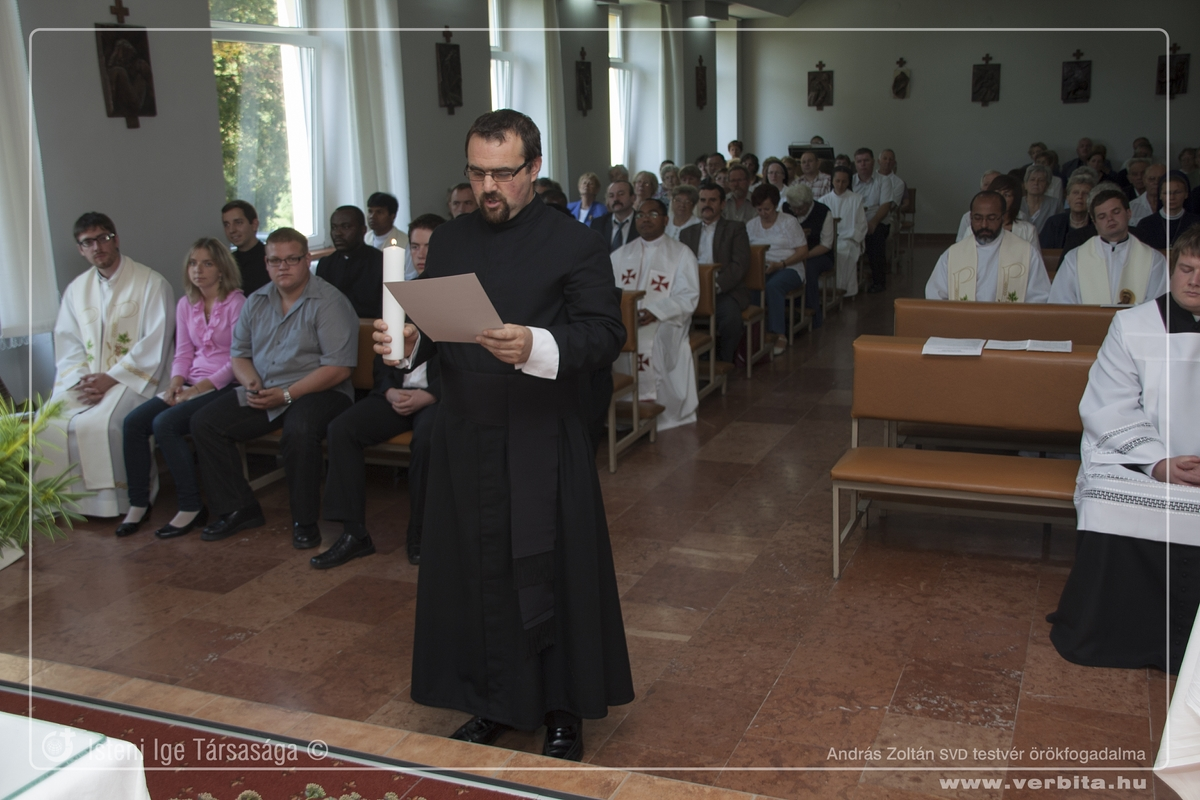 András Zoltán SVD örökfogadalom - 2014. szeptember